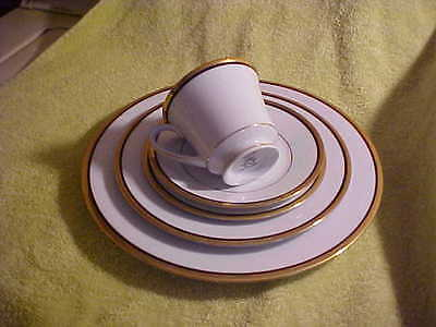 Vintage  Noritake China Complete 5 peace Place Setting Gold trimed ELYSEE 6914