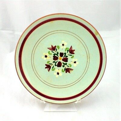 Vintage Stangl Garland 6 1/4 in Bread & Butter Plate Maroon and White As Found
