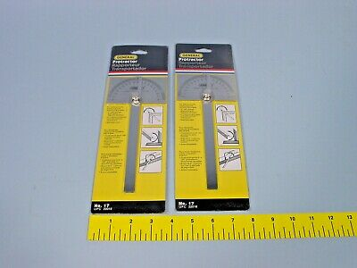2 General Tools No17 17 Inch Square Head Protractor 0-180 Degree