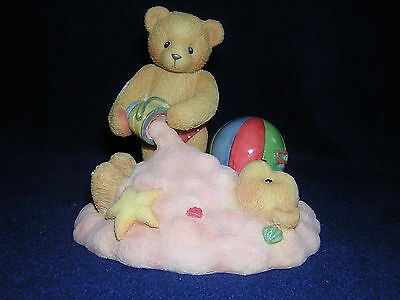 CHERISHED TEDDIES JIM and JOEY 2 Boys Playing in the Sand Beach Ball New!!