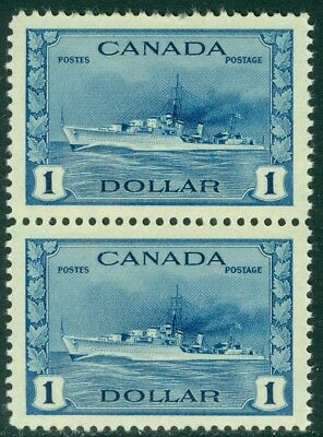 EDW1949SELL : CANADA 1942-43 Sc #262 pair Very Fine, Mint Never Hinged. Cat $200