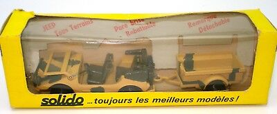 Solido Vintage No. 213 Army 'Jeep' & Trailer Dessert Colours  - Mint Boxed