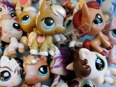 Littlest Pet Shop Lot of 3 Random Different Horse Pony Animal Figures Authentic