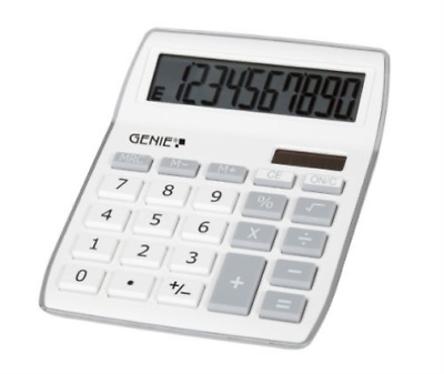 Dieter Gerth Gm-Genie 840S Silver Calculator  AC NEU