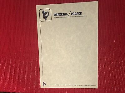 Imperial Palace Hotel Casino Original Logo Stationary Las Vegas Nevada