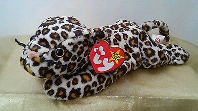 """Retired Ty Beanie Babies """"Freckles"""" the Leopard P.V.C. Pellets 1996 #4066"""