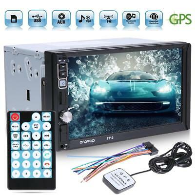 "Quad Core Android 7.1 3G 7"" Car 2 DIN GPS Bluetooth MP5 Stereo Radio FM AUX +Map"