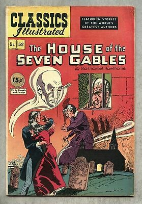 Classics Illustrated #52-1948 fn 1st edit Hawthorne House Of The Seven Gables