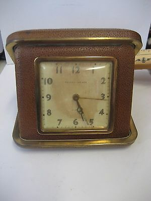 Original Phinney-Walker Compact Brown Travel Alarm Clock/parts Item