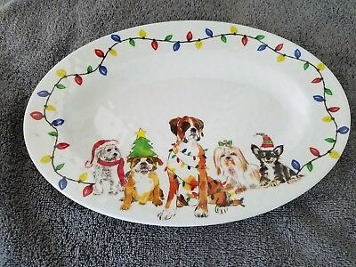 BRIGHTEN THE SEASON - DOG PLATE (FOR DOGGIE FOOD)-brand new w/tags