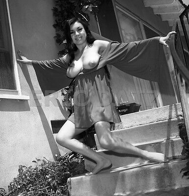 1960's Vogel Negative, busty nude Asian pin-up girl Toni Kim outdoors, t973691