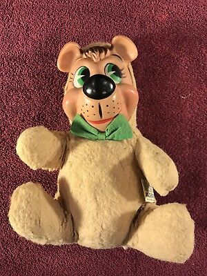 1959 Huckleberry Hound Rubber Face Plush Old Doll Knickerbockers Toy Vintage