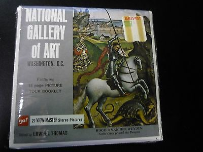 National Gallery Of Art Washington D.C. ViewMaster Vintage 3 Reelset Sealed A791