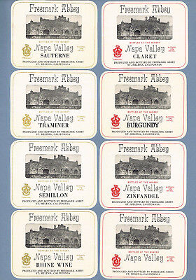 Vintage lot 8 mint - FREEMARK ABBEY St Helena, Ca Wine labels Napa Valley 2172