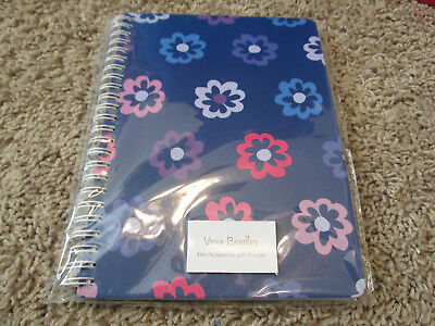 Nwt Vera Bradley Mini Notebook With Pocket, Ellie Flowers