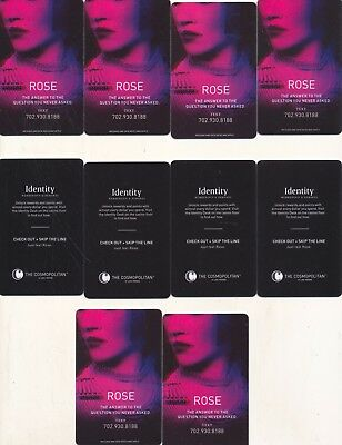 "10----""ROSE"" # 3 ---THE COSMOPOLITAN------Las Vegas,NV------Room Keys"