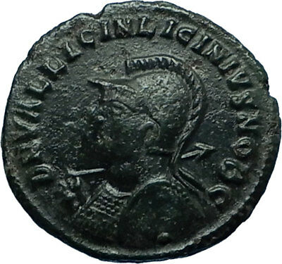 LICINIUS II Jr 321AD Heraclea Authentic Ancient Roman Coin JUPITER EAGLE i66324