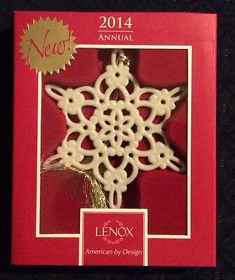 Lenox 2014 Annual Snow Fantasies Snowflake Ornament Brand New In Box 1st Quality