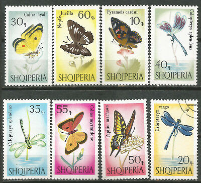 ALBANIA Scott # 922-929 New butterflies and insects