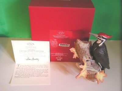 LENOX PILEATED WOODPECKER sculpture 2014 Annual Christmas Bird NEW in BOX w COA