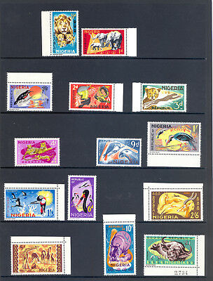 Nigeria Sg 172-85 1965 Animals Set Mnh