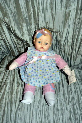 "Madame Alexander ""daddy's Sweetheart Huggums"" In Blue Dress W/ Hearts #61950"