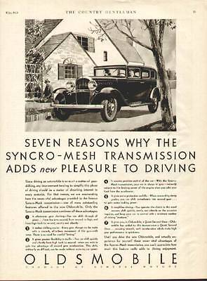 1931 Oldsmobile with Syncro-Mesh Transmission 4-Door Sedan ad