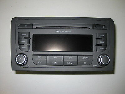 Audi A3 8P Facelift Radio Concert MP3 CD Player Tuner Doppel DIN 8P0035186P