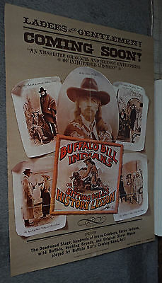 BUFFALO BILL AND THE INDIANS orig 1976 movie poster WILD WEST SHOW/PAUL NEWMAN
