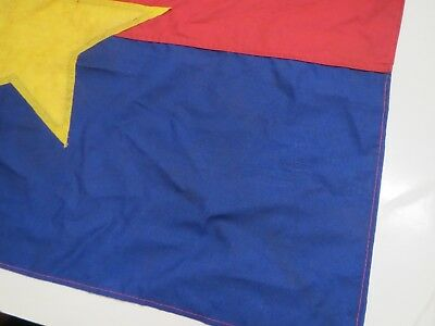 NORTH VIETNAM FLAG  , VC ,  Battle Flag    , DARK BLUE  flag , VIETCONG FLAG