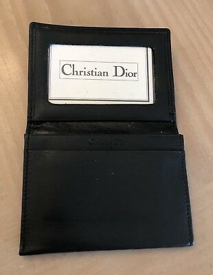 Christian Dior Men Wallet Authentic Vintage new soft black leather org $250
