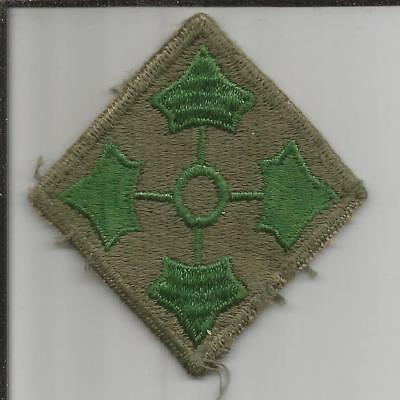 WW 2 US Army 4th Infantry Division Patch Inv# B207