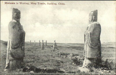 Peking Beijing China Ming Tombs Ministers c1910 Postcard chn EXC COND