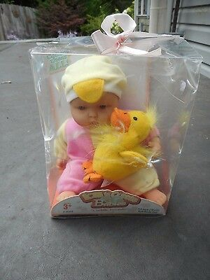 "Berenguer Lots to Cuddle Baby Cuddle Friends 7.5"" Soft Body Chick"