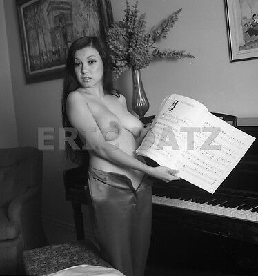1960's Vogel Negative, busty nude Asian pin-up girl Toni Kim at piano, t973956
