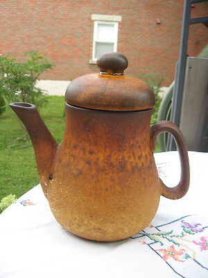 """Laurentian Pottery Canada Coffee Pot 9"""" In Tall"""