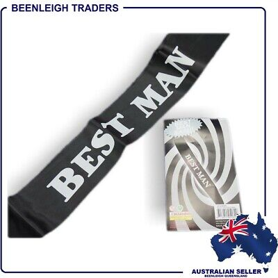 """""""BEST MAN SASH"""" A Bucks Party Must For The Boys Big Night Out"""