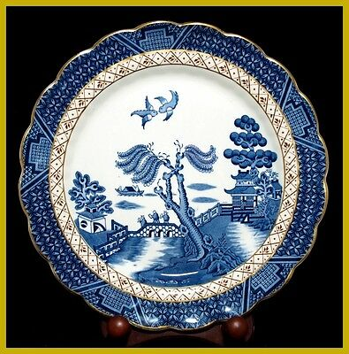 Booths Real Old Willow 10 Inch Dinner Plates - A8025 - NEW ! - 1st Quality
