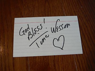 Tina Wesson  Autographed Autographed Index Card Hand Signed Survivor