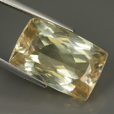 Beauty 23.45 Ct Natural Afghanistan Yellow KUNZITE Octagon Gem @ See Vdo !