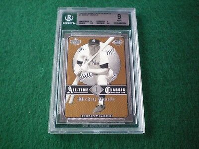 Mickey Mantle 2002 Upper Deck Sweet Spot Classics #1 Graded Card