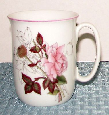 "1982 Block Spal Portugal Watercolors Goertzen Western Rose 3 3/4"" 8 oz. Mug VGD"