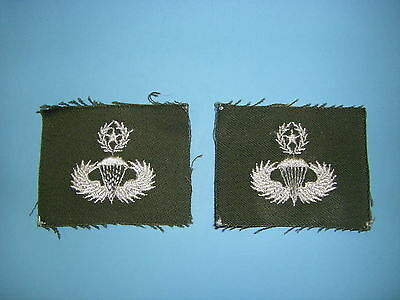 b0603-M  Vietnam US Army Parachute Wing White on OD Master IR39A