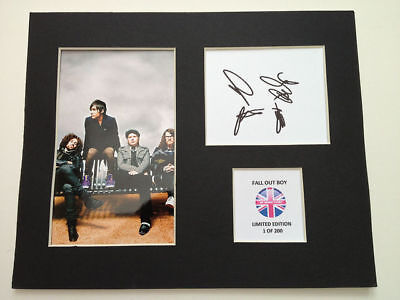 Limited Edition Fall Out Boy Fully Signed Mount Display AUTOGRAPH
