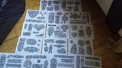 15 Tattoo Flash Sheets+Line Drawings.....celtic Designs