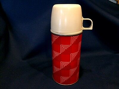 Vintage Icy Hot Metal Thermos Bottle with Cup 10 oz Norwich CT USA Made