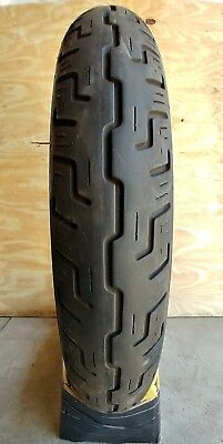 Dunlop D401F Harley Davidson 100 90 19 FRONT Motorcycle Tyre Road Cruiser Street