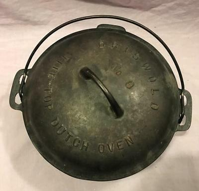 Antique Cast Iron Griswold No. 8 Tite-Top Dutch Oven W/ Lid Trivet