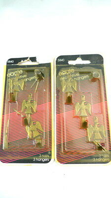 6 EAGLE Decorative Metal PIcture Hangers Vintage 1985 NEW IN PACKAGE
