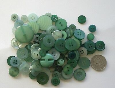 50 NEW TEAL GREEN BUTTONS MIXED Pack - Scrapbooking, Sewing and Craft